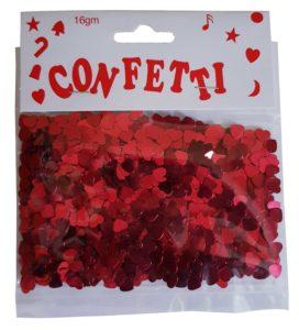 Confetti – Hearts Red 6mm 16g