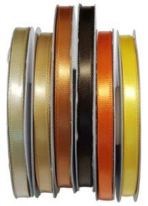 Ribbon - Satin Plain Tan, Gold, Copper