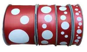 Satin Spots Red/White