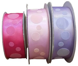 Satin Spots Bright Pink, Pearl Pink and Orchid