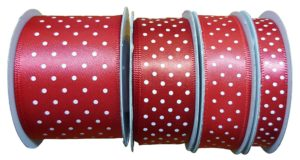 Satin Spots Small Red/White
