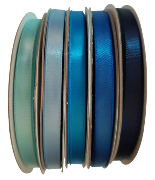 Ribbons - Satin Plain Blue