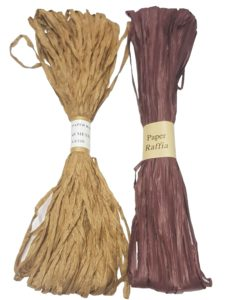 Raffia – Raffia Paper x 45 meters – Dark Gold and Wine